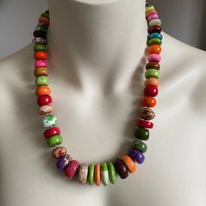 Artisan Crafted ART Long Statement Necklace NEW 24